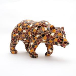 クマ モザイクタイル アート雑貨 置物 グッズ |kaiyokobo