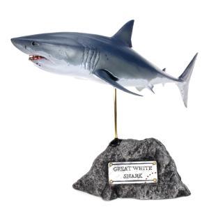 ホホジロザメ フィギュア Great white shark(フィッシュカービング)※受注生産3ヵ月待ち(代引き不可) kaiyokobo
