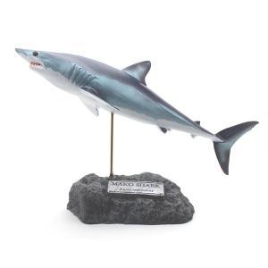 アオザメ フィギュア Shortfin mako shark figure(フィッシュカービング)※受注生産(代引き不可)|kaiyokobo