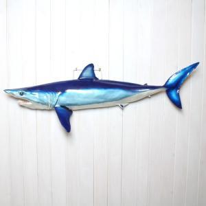 アオザメ レプリカ 壁掛け 半面 Shortfin mako shark サメフィギュア※受注生産(代引き不可)|kaiyokobo|02