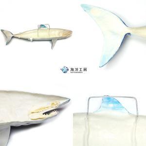 アオザメ レプリカ 壁掛け 半面 Shortfin mako shark サメフィギュア※受注生産(代引き不可)|kaiyokobo|06