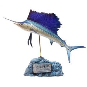 バショウカジキ フィギュア Indo-Pacific sailfish(フィッシュカービング))※受注生産3ヵ月待ち(代引き不可) kaiyokobo
