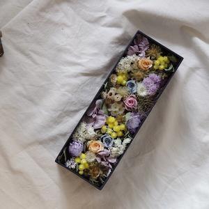 ボックス アレンジメント  ギフト 花 プレゼント 誕生日 結婚祝い 開業祝い 開店祝い  内祝 新築祝い インテリア ドライフラワー|kajioso
