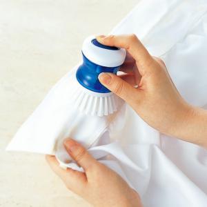マーナ 洗剤が入る えりそで洗いブラシ MARNA Yシャツ 部分洗い ブラシ 洗剤 もみあらい 襟洗い 袖口洗い|kajitano