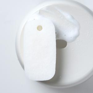 マーナ お風呂のスポンジ ダブル ホワイト  きれいに暮らす バススポンジ 2層 床洗い スポンジ 白 シンプル お風呂 おしゃれ タイル洗い お掃除 大掃除|kajitano