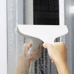 マーナ お風呂のスキージー  きれいに暮らす ワイパー お風呂 掃除用品 ホワイト グレー シンプル お風呂 おしゃれ お掃除ワイパー お掃除 大掃除|kajitano