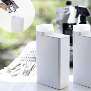 詰め替え用ランドリーボトル タワー 洗濯用洗剤 ディスペンサー 詰替え ボトル おしゃれ ホワイト ブラック 白 黒 洗剤ボトル|kajitano
