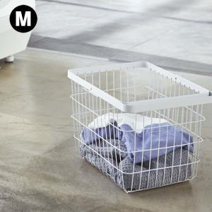 ランドリーワイヤーバスケット タワー M  収納 ランドリー 黒 白 おしゃれ ナチュラル 洗濯かご 洗濯カゴ 大きい|kajitano