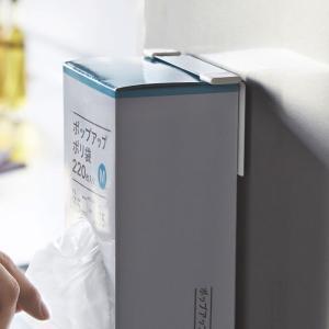 マグネットボックスホルダータワー  キッチンペーパーホルダー tower 磁石 ティッシュボックス ポリ袋 キッチンペーパー 箱 キッチン収納|kajitano