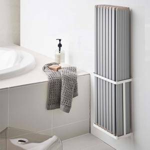 浴室収納 風呂ふた 風呂蓋収納 シンプル シャッター式対応 磁石 マグネット バスルーム折り畳み風呂蓋ホルダー タワー 山崎実業|kajitano