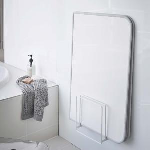 浴室 収納 マグネット 磁石 風呂場 乾燥 風呂ふた シンプル ホワイト ブラック 乾きやすいマグネット風呂蓋スタンド タワー 山崎実業|kajitano