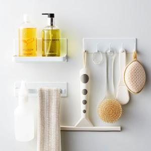 マグネットバスルームシリーズ タワー 3個セット  タオルハンガー マグネット 浴室収納 おしゃれ マグネット収納 ラック タオルハンガー マグネット式 浴室|kajitano