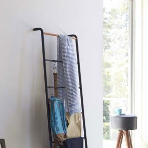 ラダーハンガー タワー  ラダーラック ラダーハンガー タワー ラダーシェルフ ラダーラック 木製 はしご おしゃれ 洋服掛け ハンガーラック コート掛け 玄関|kajitano