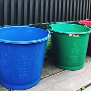 プラスチックバケツ LCL コンストラクションバケット 12L バケツ おしゃれ かわいい アウトドア ガーデニング 洗車 ポリバケツ 大掃除 bucket|kajitano