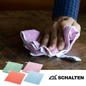 SCHALTEN クロス 全4種類 シャルテン クロス マイクロファイバー おしゃれ 掃除用品 掃除道具 おそうじ フローリング ほこり 油汚れ 大掃除 シンプルの商品画像|ナビ