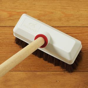 SCHALTEN デッキブラシ  シャルテン おしゃれ 玄関掃除 タイル バルコニー ウッドデッキ 掃除用品 掃除道具|kajitano