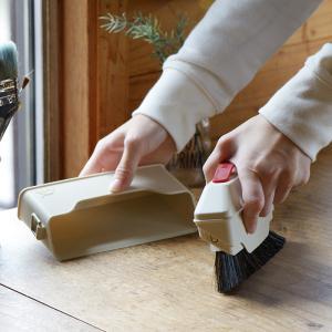 SCHALTEN ハンディークリーナー ケース付き  シャルテン ほうき 箒 おしゃれ 掃除用品 掃除道具 おそうじ フローリング ほこり 大掃除 シンプル|kajitano