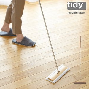 tidy フロアワイプ  全2色 フローリングワイパー ティディ クイックルワイパー 木製 天然木 モップ ワイパー おしゃれ 掃除 大掃除 tidy|kajitano