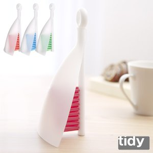 tidy スイッピークリア 全4色 ほうき ちりとり セット 卓上 テーブル はたき ブラシ チリトリ|kajitano