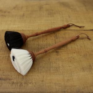REDECKER ヤギ毛のはたき 黒  レデッカー はたき ブラシ やわらかい 毛 ハタキ やぎ毛|kajitano
