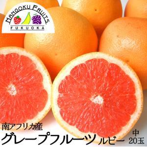 南アフリカ産グレープフルーツ・ルビー中玉20玉送料無料¥3,...
