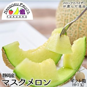 静岡産マスクメロン1玉ギフト箱 母の日ギフト対応...