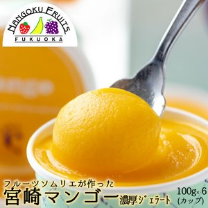 フルーツソムリエが作った濃厚ジェラート『宮崎マンゴー』6個 kajitsumura