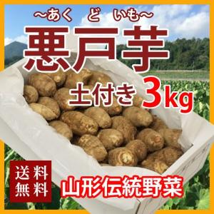 里芋 悪戸芋 あくど芋 3kg 山形 サトイモ さといも 土芋 土付き 皮付き 種芋 送料無料 芋煮...