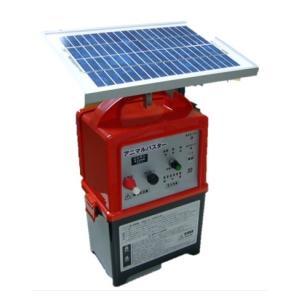 電気柵(さく) アニマルバスターNSDSR-5W 5Wソーラー、バッテリー付電柵器|kakashiya
