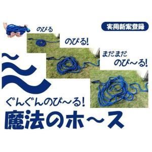 NEW魔法のホース 水圧で伸び縮みするホース ぐんぐん伸びる みるみる縮む 5mのホースがあっという間に15mに 送料無料キャンペーン実施中|kakashiya