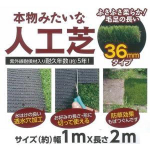 本物みたいな人工芝 4本セット ふさふさ柔らか毛足の長い36mmタイプ kakashiya