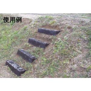 仮設階段50cm 4個組 法面ステップ 傾斜面の階段設置が可能!杭を2本打ち込んで固定します。|kakashiya