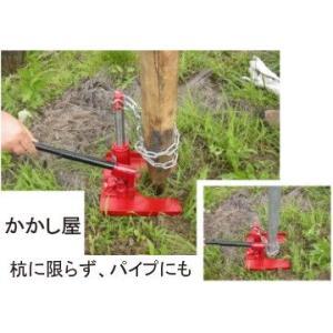 かんたん杭抜き器(油圧式) 2〜10cmの杭の撤去に kakashiya