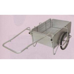 オールアルミ製・ノーパンクタイヤ「折りたたみ式リヤカー」小(最大積載重量100kg)|kakashiya