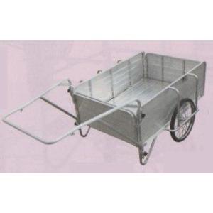 オールアルミ製・ノーパンクタイヤ「折りたたみ式リヤカー」大(最大積載重量130kg)|kakashiya