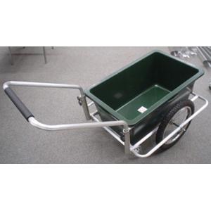 コンパクトサイズ「リヤカー」アルミタイプ 液体も運べる約90リッターバケット|kakashiya