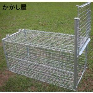 折りたたみ式小動物捕獲装置 裏フタが開き、餌付け簡単!餌吊下げ方式|kakashiya