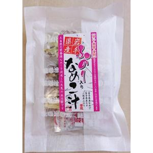 岩手県産 ふのり入りなめこ汁 4食入り インスタント 味噌汁 即席 みそ汁|kakeashinokai