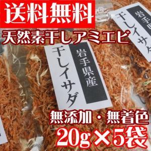 送料無料 天然素干しアミエビ 干しイサダ20g×5個セット 無添加 無着色|kakeashinokai
