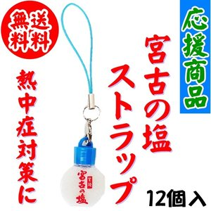 送料無料 応援商品 宮古の塩ストラップ 12個 熱中症対策 スマートレターで発送 kakeashinokai