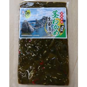 宮古名物茎わかめ生姜漬け(150g)ご飯のお供 お茶うけ ピリ辛|kakeashinokai