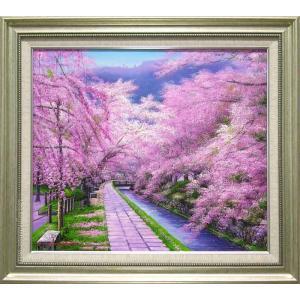 絵画 油絵 哲学の道 (木村由記夫)  【肉筆】【油絵】【日本の風景】【10号】|kakejiku