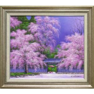 絵画 油絵 角館の桜 (木村由記夫)  【肉筆】【油絵】【日本の風景】【10号】|kakejiku