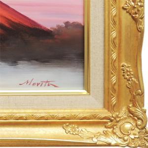 絵画 油絵 赤富士 (森田浩二) WF3号  【肉筆】【油絵】【富士】【横長】|kakejiku|03
