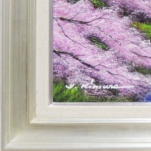 絵画 油絵 忍野富士に桜 F20号 (木村由記...の詳細画像1