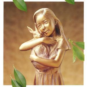 大道寺光弘 幸わせの草原 −大切なもの− (ブロンズ像) |kakejiku