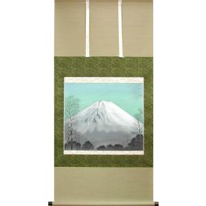 掛け軸 富士 (木下夢路)  【掛軸】【一間床】【丈の短い掛軸】【富士】|kakejiku