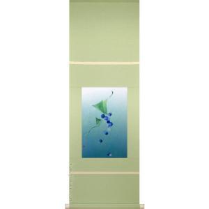 掛け軸 風薫る (日比野暢子)  【掛軸】【半間床】【丈の短い掛軸】【モダン】|kakejiku
