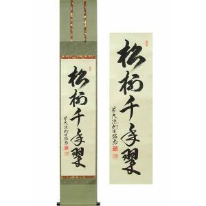 掛け軸 松樹千年翠 (柳生紹尚)  【掛軸】【一間床・半間床】【茶掛】|kakejiku