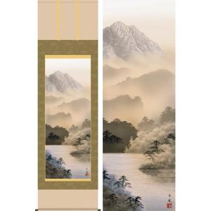 <title>掛け軸 湖畔黎明 熊谷千風 掛軸 お気に入り</title>
